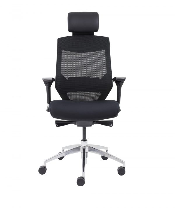 Vogue High Back Chair Alloy Base